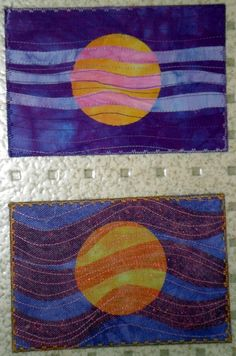 Edna's fabric postcards