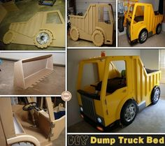 1000 images about diy kids beds on pinterest dump trucks beds and kids bedroom sets - Dump truck twin bed ...