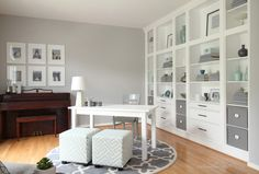 Home office inspiration from Studio 36 (Thrifty Décor Chick before & after)