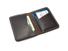 Horween Chromexcel Leather Bifold Wallet Ox Blood by SHKIRA