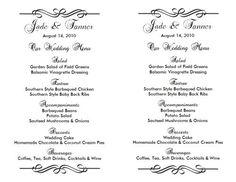 Gray Menu Entree Card - Wedding Menu Template - Instant Download ...