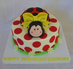 ladybug cake By mbark on CakeCentral.com