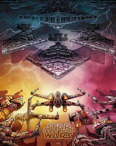 "pixalry: "" Star Wars: The Rise of Skywalker - Created by Dan Mumford "" Star Wars Fan Art, Film Star Wars, Star Wars Poster, Star Wars Online, Dan Mumford, Starwars, Star Wars Wallpaper, Illustration, Star Wars Episodes"