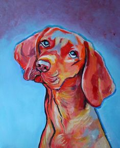 Draw Dogs Buy Red Dog, Acrylic painting by Julie Hollis on Artfinder. Discover thousands of other original paintings, prints, sculptures and photography from independent artists. Quirky Art, Weird Art, Paintings For Sale, Original Paintings, Butterfly Painting, Red Dog, Abstract Animals, Animal Drawings, Drawing Animals