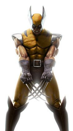Marko Djurdjević The X-Men// Hugh Jackman should look like this when he's using the outfit... there's even a joke about it.