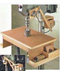 Ah! E se falando em madeira...: Lixadeira oscilante na furadeira de bancada
