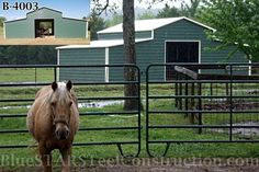 horse barn - metal building - low cost steel barn - low cost horse barn - call for a quote - horse barn designs - horse barn ideas - horse barn builder - call for quote Horse Barns, Horses, Horse Barn Designs, Barn Builders, Steel Barns, Steel Fabrication, Iron Steel, Building Systems, Construction Design