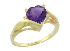 Image result for Amethyst heart Gold Ring