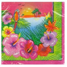 Pack of 16 Luau Party Napkins – Tropical Party Tableware Ideas – Tableware Design 2020 Hawaiian Party Supplies, Hawaiian Luau Party, Birthday Supplies, Wedding Supplies, Tropical Party Decorations, Baby Shower Supplies, Party Napkins, Party Tableware, Waimea Bay