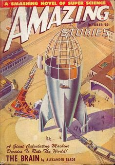 James B. Settles' cover for the October 1948 issue of Amazing Stories
