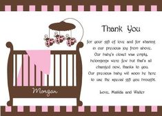 baby shower thank you card wording  google search  the baby, Baby shower invitation