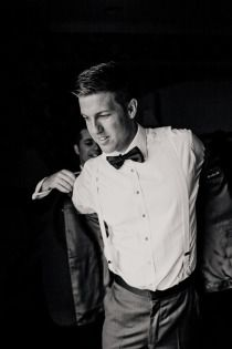 Pose for photo shoot (groom) - getting ready with the best man