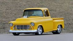 1955 Chevrolet 3100 at auction #2482764 - Hemmings Motor News New Chevrolet Trucks, Chevrolet 3100, Classic Chevrolet, Classic Trucks, Classic Cars, Custom Muscle Cars, Yellow Interior, Vintage Air, Air Conditioning System