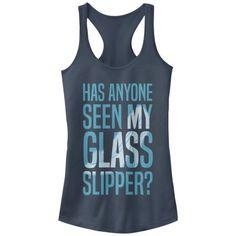 db063aa5 Cinderella - Cinderella Juniors' Glass Slipper Racerback Tank Top - Walmart .com