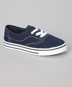 Love this Navy & White Contrast Sneaker by Montana on #zulily! #zulilyfinds