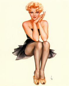 pin up girls of the 40 and 50 | The very term 'pin-up' brings to mind the Vargas girls of magazine ...
