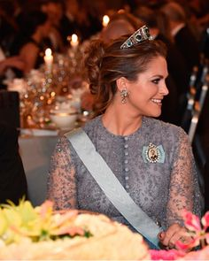 Royal Family Around the World: Swedish Royals Attend The Nobel Prize Award Ceremony 2015 at Concert Hall on December 10, 2015 in Stockholm, Sweden.
