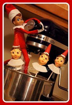 Elf on the Shelf Cake Pops