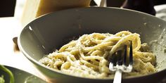 The secret to a legit Cacio e Pepe, according to Locanda, is boiling the pasta in a pot, then transferring to a sauté pan for the majority of the cooking. The starchy water will recoat the pasta as it cooks, which creates a luxurious, silky effect without needing to use butter, cream, or any other s...