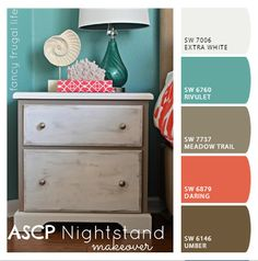 """Master Bedroom Color Pallet---upload any photo to this site and it will """"chip it"""""""