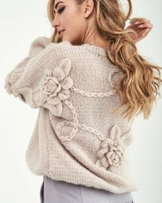 Crochet baby clothes how to 53 ideas for 2019 Lace Knitting, Baby Knitting Patterns, Knit Crochet, Knit Fashion, Sweater Fashion, Fashion Outfits, Mode Glamour, Crochet Baby Clothes, Baby Sweaters