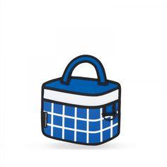 Dark Blue Checked Handbag   JumpFromPaper ®