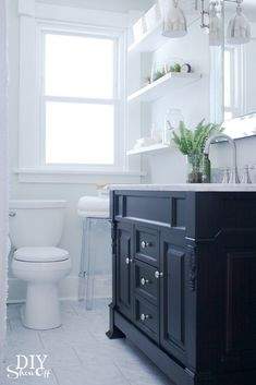 Bathroom Makeover from the DIY Showoff ~ you need to see the before and the after is gorgeous!