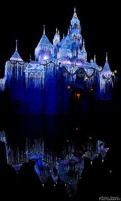"Christmas in ""Quiet Night with Sleeping Beautys Castle"", Disneyland Park"
