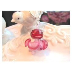 Necklace pink stacked glass lampwork beads, opal pink crystals ❤ liked on Polyvore featuring jewelry, necklaces, pink opal necklace, pink necklace, swarovski crystal necklace, stacked necklaces and glass bead jewelry