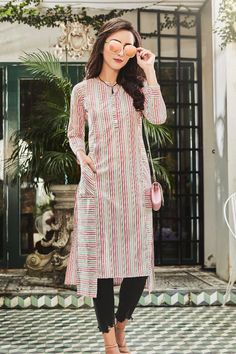 Do you want to start kurti business from home? LKFABKART offers kurtis from range of kurti manufacturers Simple Kurti Designs, Kurta Designs, Blouse Designs, Party Wear Kurtis, Kurti Designs Party Wear, Latest Kurti Styles, Ethnic Fashion, Indian Fashion, Kurti With Jeans