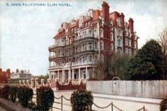 A second page of old postcards of Felixstowe in Suffolk. Cliff Hotel, Yesterday And Today, Live In The Now, Vintage Postcards, Ghosts, The Past, England, Spaces, Vacation