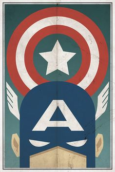 Vintage Captain America Poster (by Michael Myers? Poster Avengers, Superhero Poster, Superhero Room, Superhero Symbols, Avengers Series, Superhero Classroom, Superhero Design, Avengers Age, Poster Diy