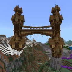 Minecraft Fort, Minecraft Bridges, Minecraft Mansion, Minecraft Structures, Cute Minecraft Houses, Minecraft Anime, Minecraft Medieval, Minecraft Castle, Minecraft Plans