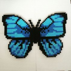 Blue butterfly hama
