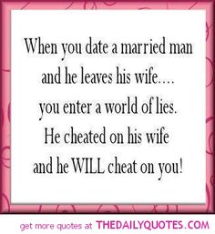 Quotes dating a married man