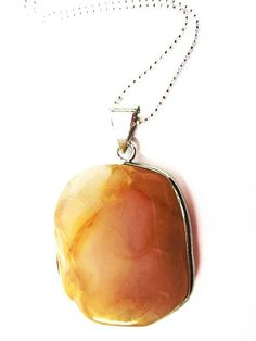NATURAL AGATE NECKLACE With Sterling Silver by mediterraneangirl, $25.90