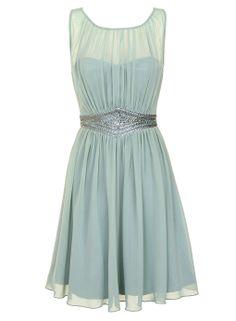 Sage Embellished Dress $110