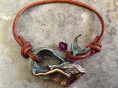 Bohemian 'Mermaid Magic' Bracelet in Verdigris (aqua green) Patina