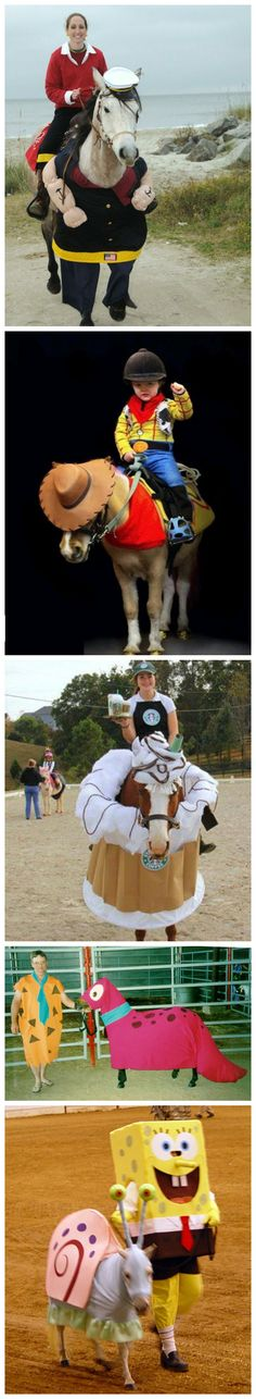 The might not be as easy to dress as a cat or dog, but some people do love dressing up their horses in costumes. These ten ideas are not just for the horse, but the owner and rider as well. Costume ideas designed for both you and your horse… Horse Halloween Costumes, Animal Costumes, Pet Costumes, Costume Ideas, All The Pretty Horses, Beautiful Horses, Horse Love, Horse Girl, Horse Fancy Dress