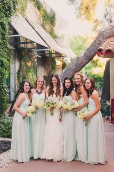 Bridesmaid dress idea; Featured Photographer: Mike Olbinski Photography, Featured Planner: BTS Event Management Mod Wedding, Wedding Looks, Bridesmaid Dresses, Wedding Dresses, Bridesmaids, Princesa Kate Middleton, Wedding Mint Green, Event Management, On Your Wedding Day