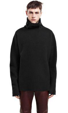 Moore black heavy boiled wool sweater #AcneStudios #menswear #PreFall2014