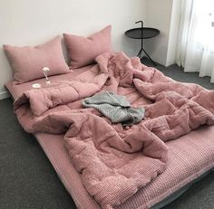 Love the pink bedding