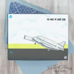 This project uses the Plane Awesome set by Kindred Stamps. Check out my blog for more details!