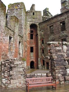Caerlaverock Castle, near Dumfries, Scotland. Castle Interior. Photograph by Justin Kane, via Flickr. Photo taken May 18th, 2009.