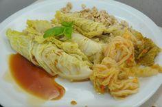 Involtini di verza con tofu e riso integrale presentazione