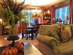 The Tuscan Home: A Peek Around The Autumn Filled House  beautiful!