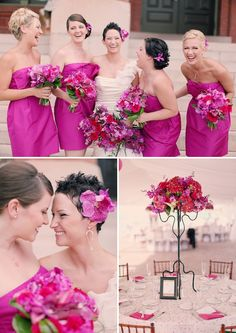 Google Image Result for http://theknottybride.com/wp-content/uploads/2011/08/14-Bridesmaids-in-fuchsia-Fuchsia-Pink-Seaside-Outdoor-Wedding-Hilton-Pittman-Wedding-Photographer-TKB-7.jpg