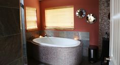 Large birth tub at the Dundee Cottage