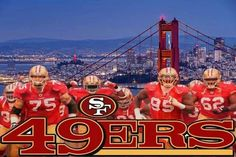 49ers Sf Forty Niners, Sf Niners, San Francisco Giants, San Francisco Skyline, 49ers Fans, American Football Players, 8 Year Olds, Golden Gate Bridge, Nfl