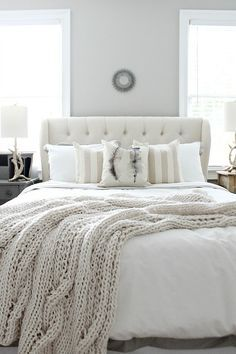36-Cozy-Master-Bedrooms-pretty-gray-room-with-sweater-blanket